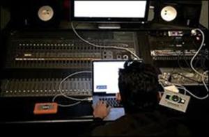Arjun Vagale working in a studio