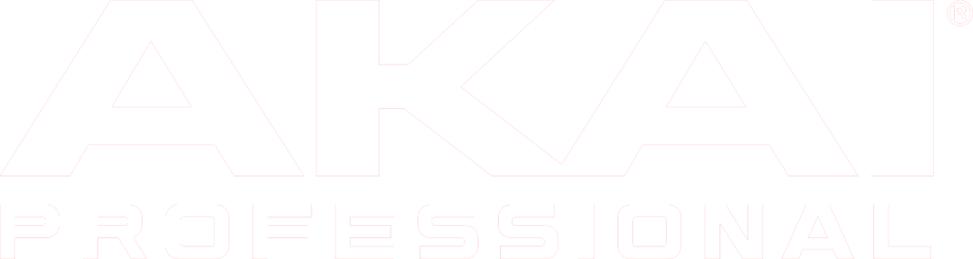 Akai professional logo in white