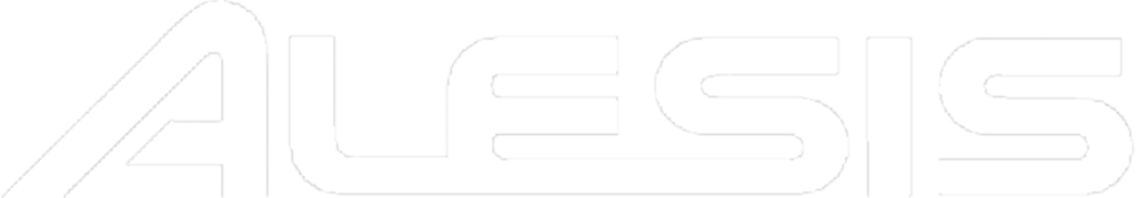 Alesis logo in white no background
