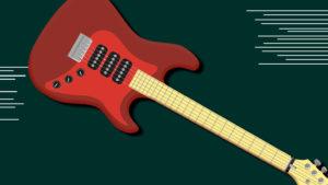Electric Guitar drawn